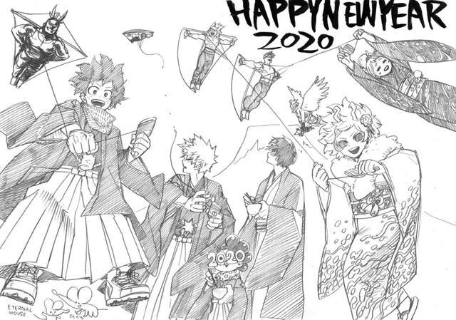 2020年到来!Jump全明星领衔,众动漫纷纷晒出新年贺图