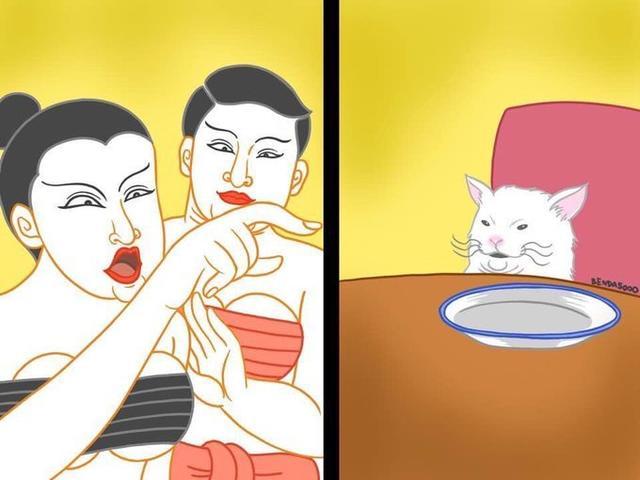 趣闻:女子骂猫表情包 改图大混战 看看哪个最有才