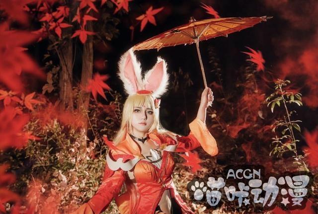 ACG最靓Coser第3期:一柄油伞,山远天高烟水寒,相思枫叶丹