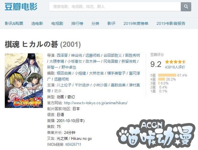 【喵咔动漫ACG】播出19年豆瓣9.2分,让一百多万人学围棋,这部番到底神在哪?