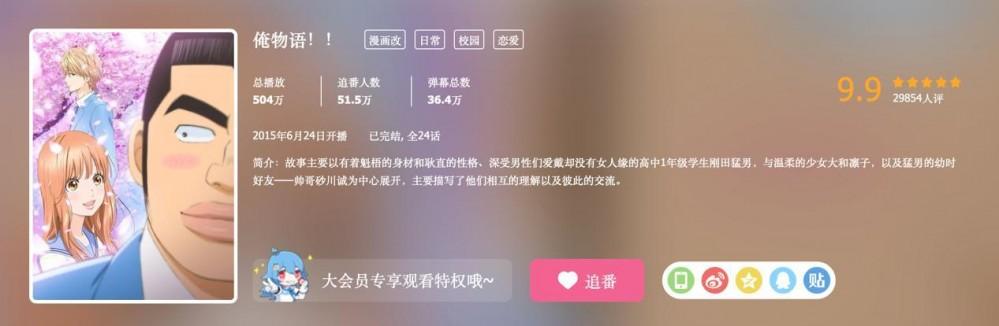 【喵咔动漫ACG】这部恋爱番在B站评分9.9,男主长得一言难尽,却被萌妹子追求