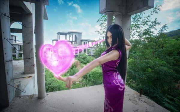 cos正片——女帝 紫旗袍