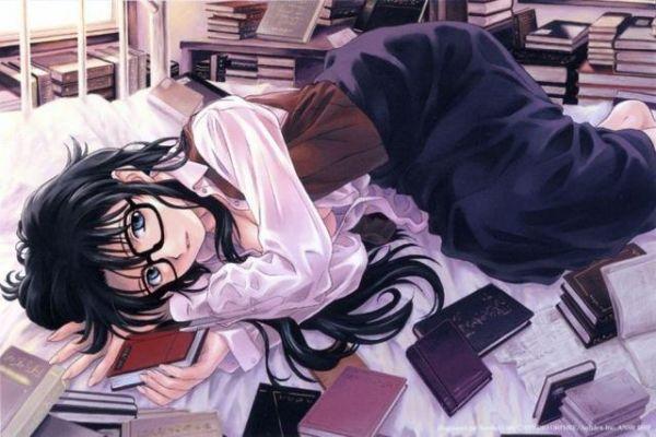 文静甜美!盘点动画中爱看书的萌妹子