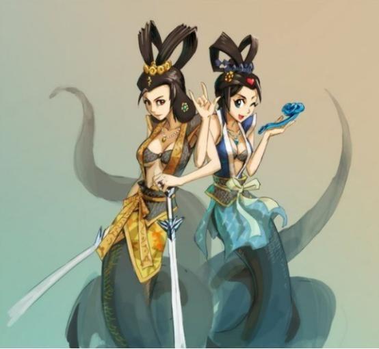 金蛇精,青蛇精,《葫芦娃》里两大妖后,谁的实力更强!